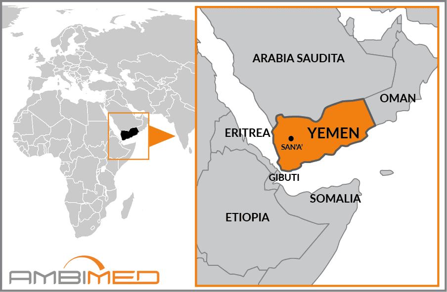 Cartina Yemen.Scheda Yemen Ambimed Group