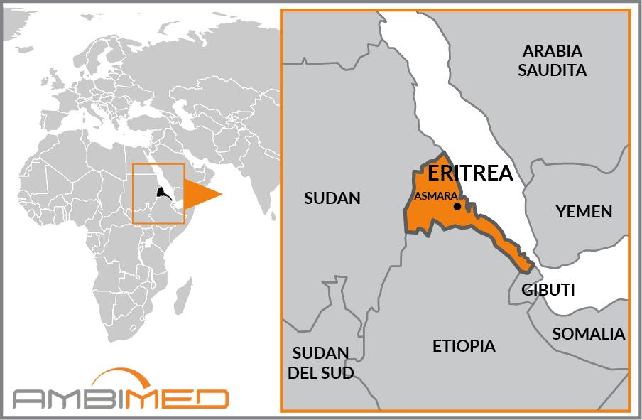 Cartina Eritrea.Scheda Eritrea Ambimed Group