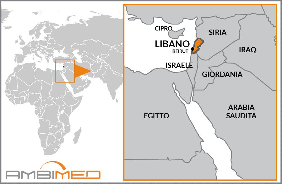 Cartina Del Libano.Scheda Libano Ambimed Group