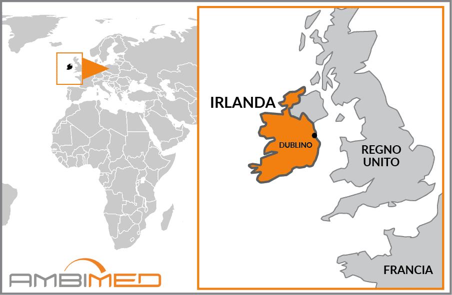 Cartina Geografica Dell Irlanda.Scheda Irlanda Ambimed Group