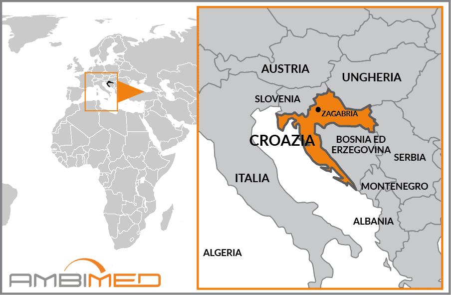 Cartina Geografica Italia Croazia.Scheda Croazia Ambimed Group