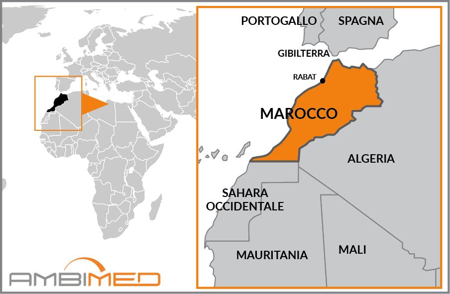 Marocco Cartina Stradale.Scheda Marocco Ambimed Group