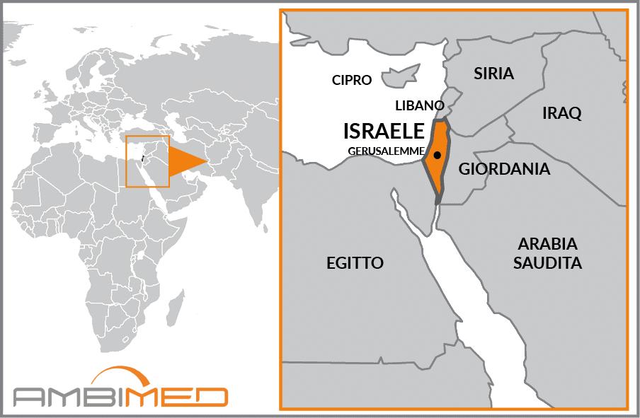 Cartina Israele Giordania.Scheda Israele Ambimed Group
