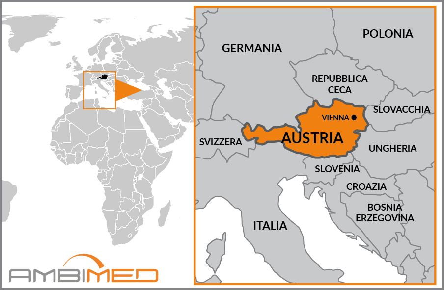 Cartina Del Austria.Scheda Austria Ambimed Group