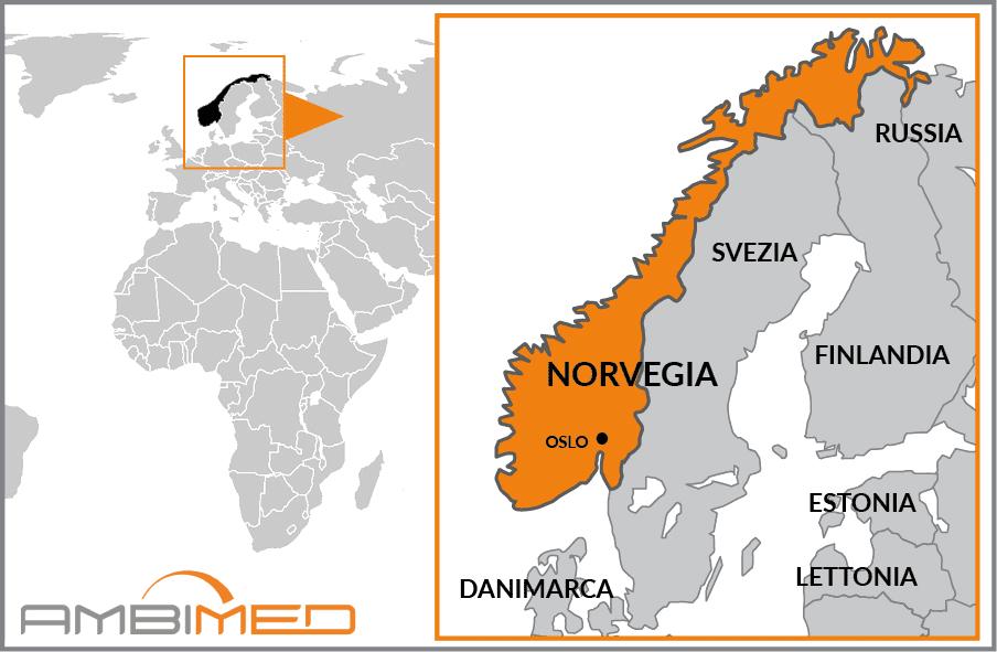 La Norvegia Cartina.Scheda Norvegia Ambimed Group