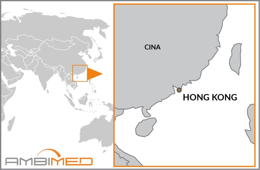 Cartina Hong Kong.Scheda Hong Kong Ambimed Group