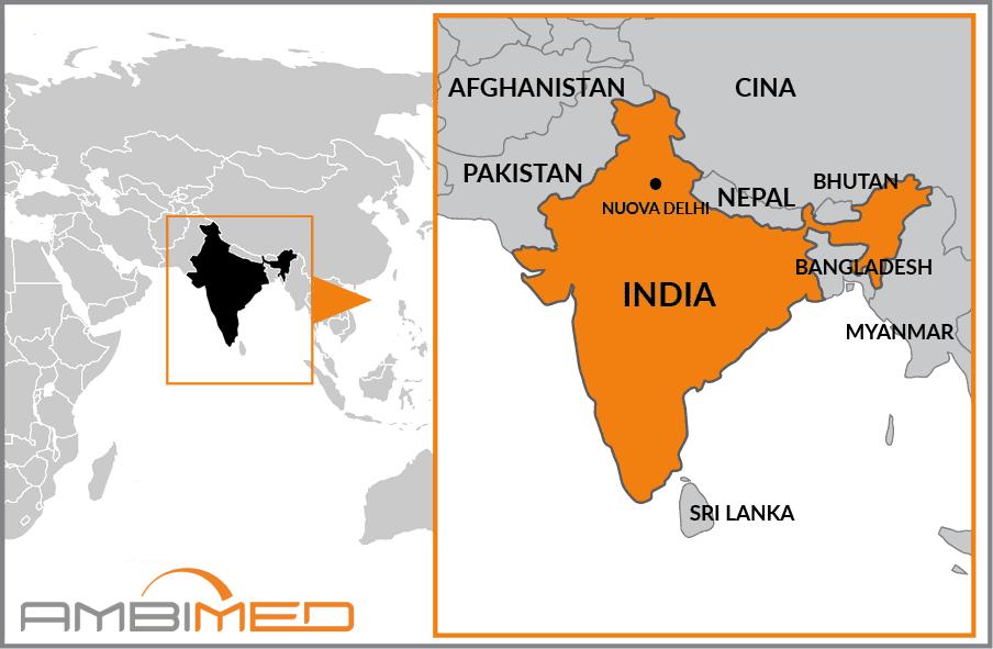 Cartina Dell India Del Nord.Scheda India Ambimed Group