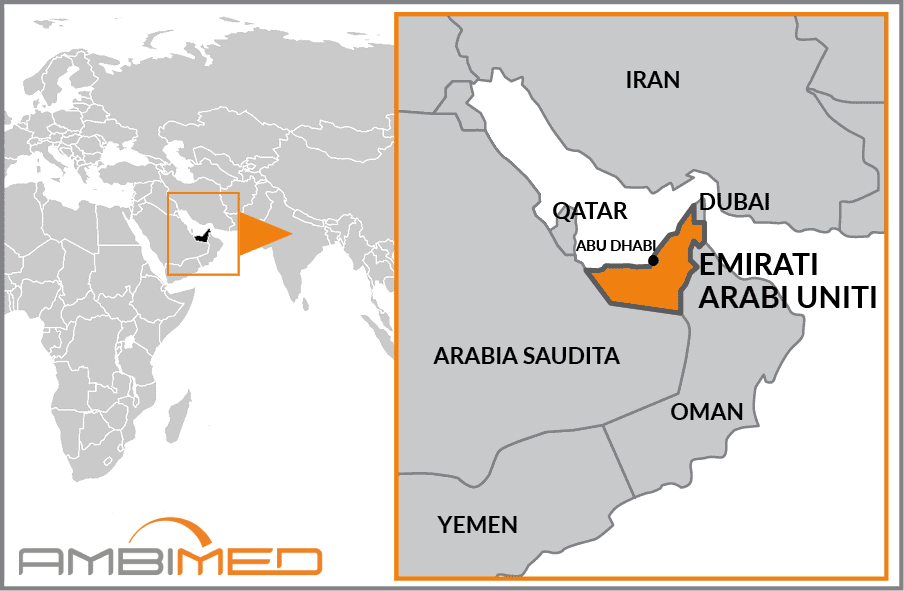 Emirati Arabi Dubai Cartina Geografica.Scheda Emirati Arabi Uniti Ambimed Group