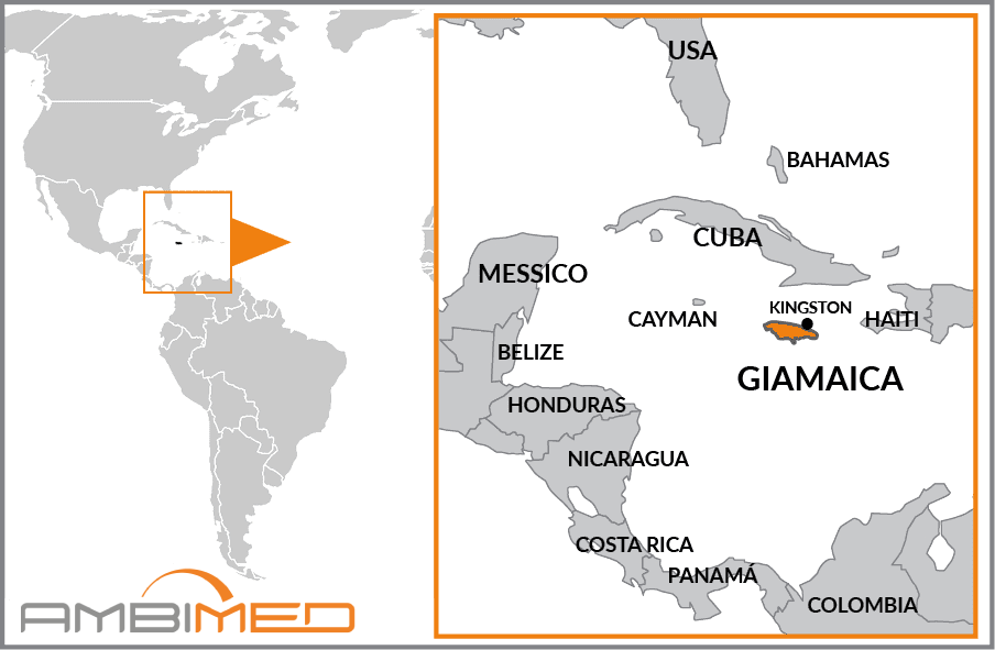 Cartina Geografica Haiti.Scheda Giamaica Ambimed Group