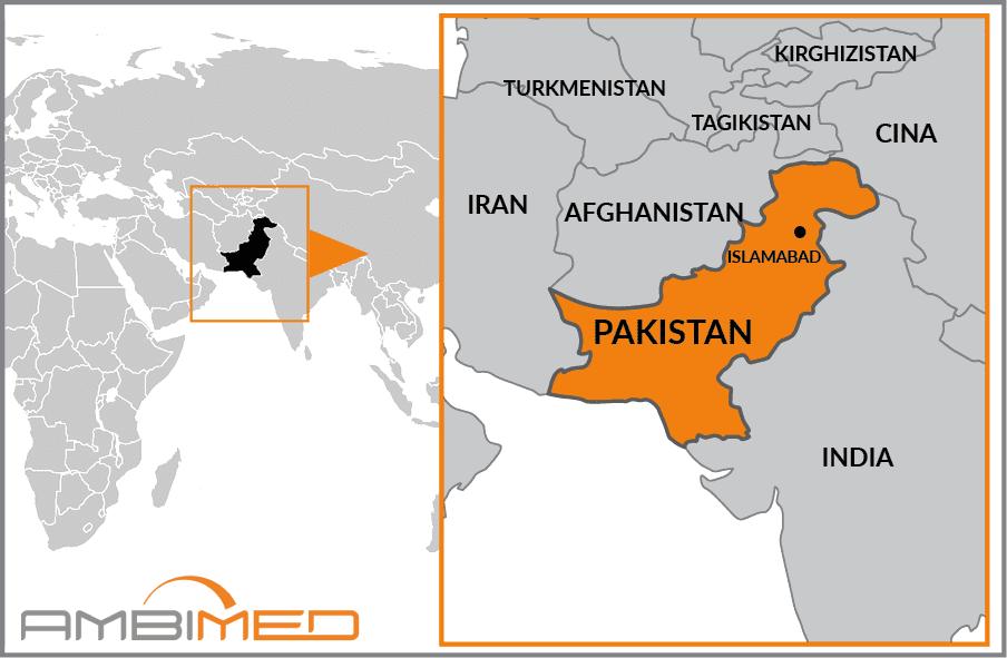 Cartina India Pakistan.Scheda Pakistan Ambimed Group